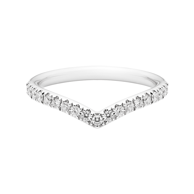 Classic Wishbone Style Diamond Dress Ring