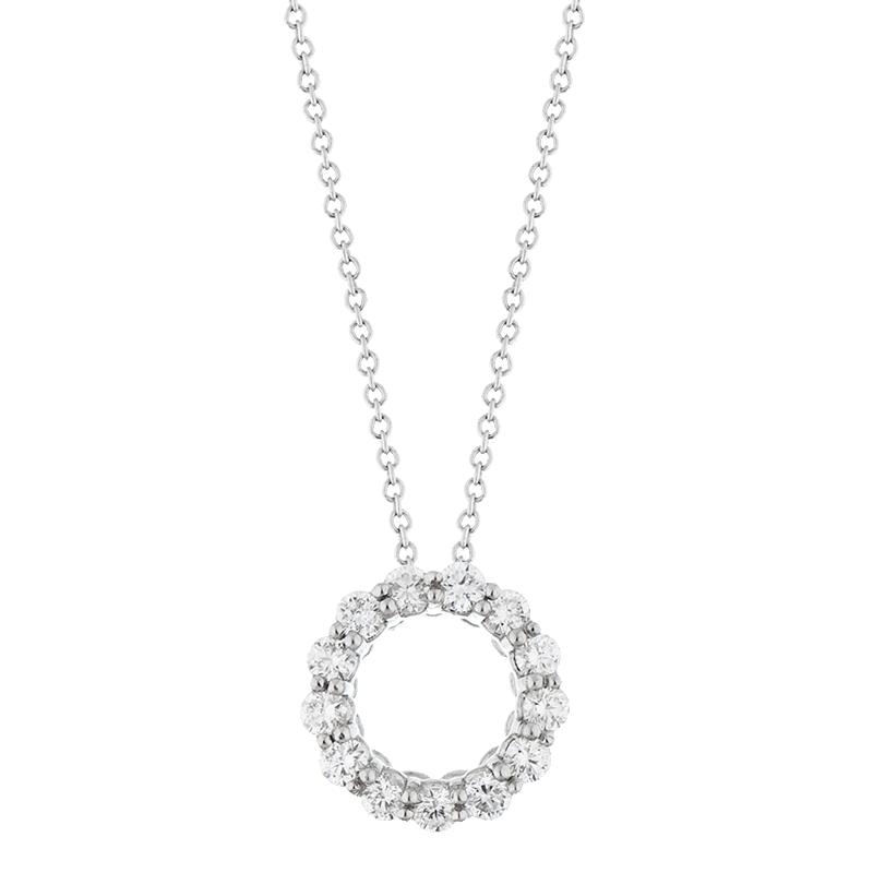 Delicate Open Circle Pendant