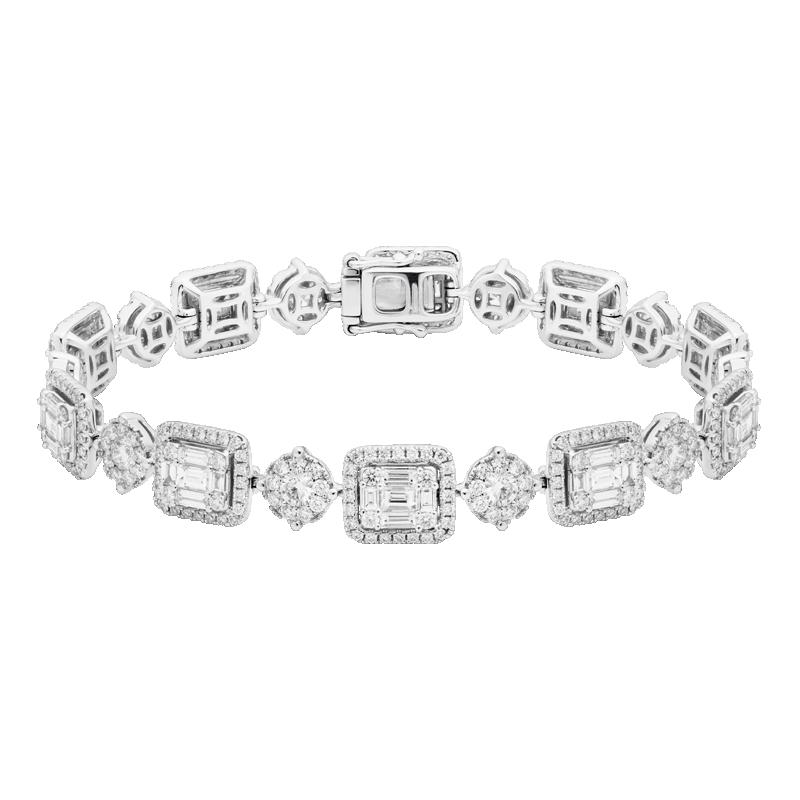 Mixed Cut Diamond Bracelet