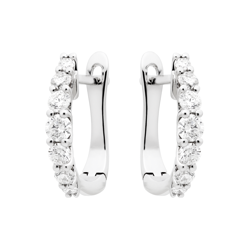 A Pair of Delicate Graduated Hoop Earrings