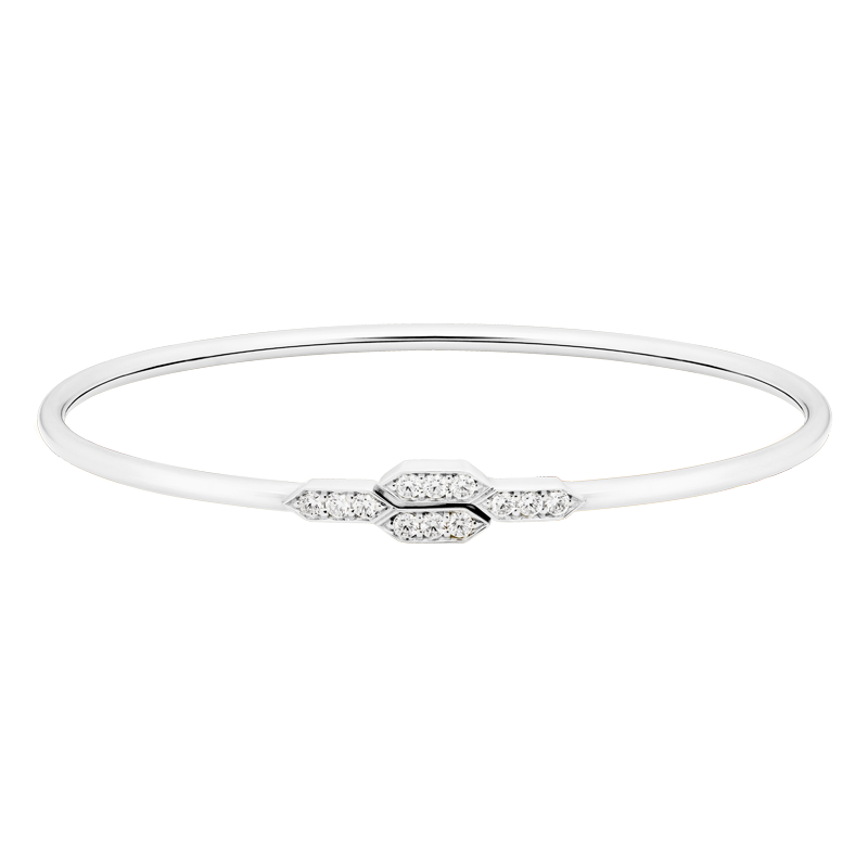 Deco Style Diamond Bangle