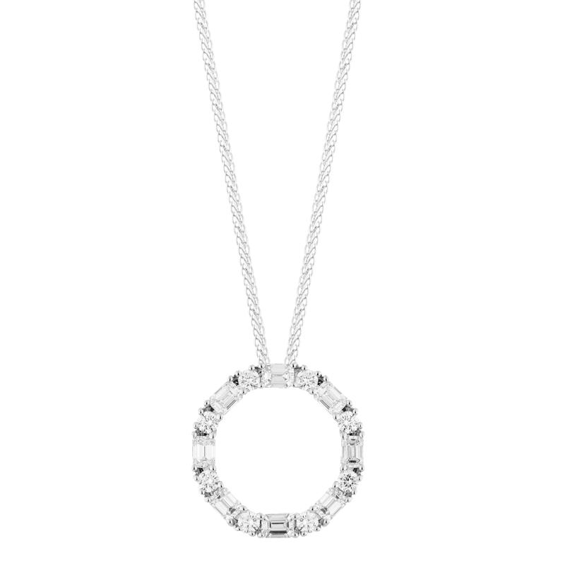 Mixed Cut Open Circle Pendant
