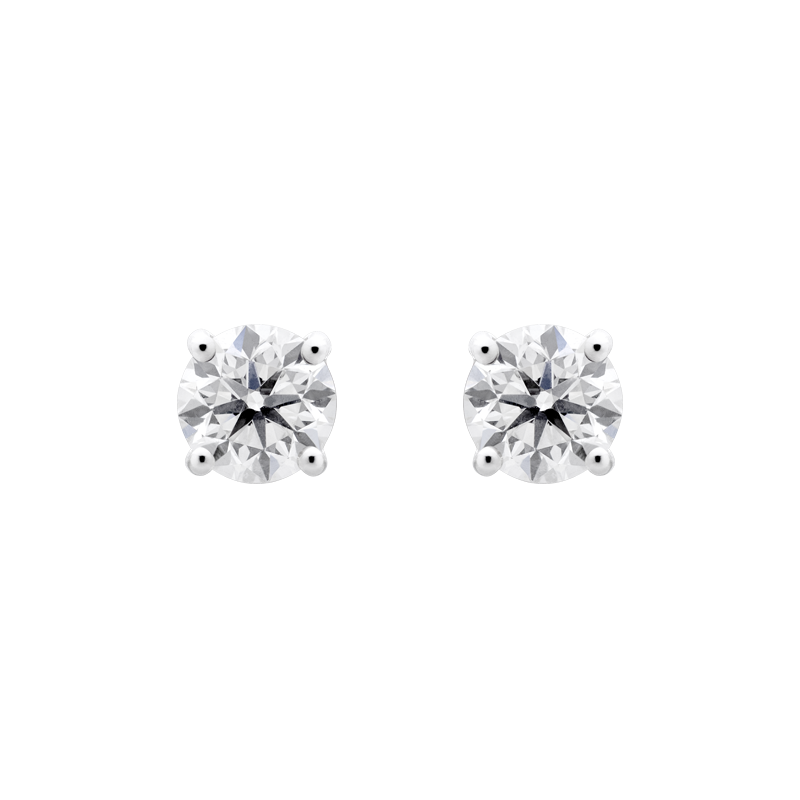 Round Brilliant Diamond Studs, 2.02ct
