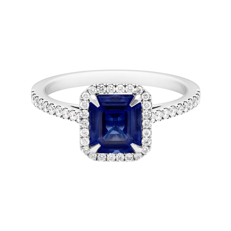 An Emerald Cut Sapphire Dress Ring