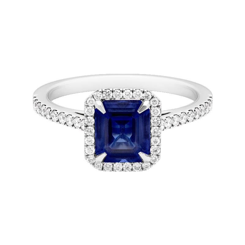 Emerald Cut Sapphire Dress Ring