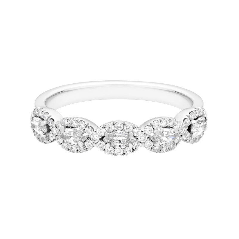 A Marquise and Round Brilliant Diamond Dress Ring