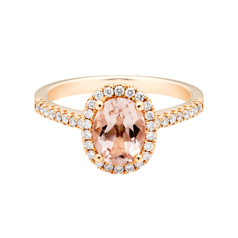 An Oval Cut Morganite Dress Ring
