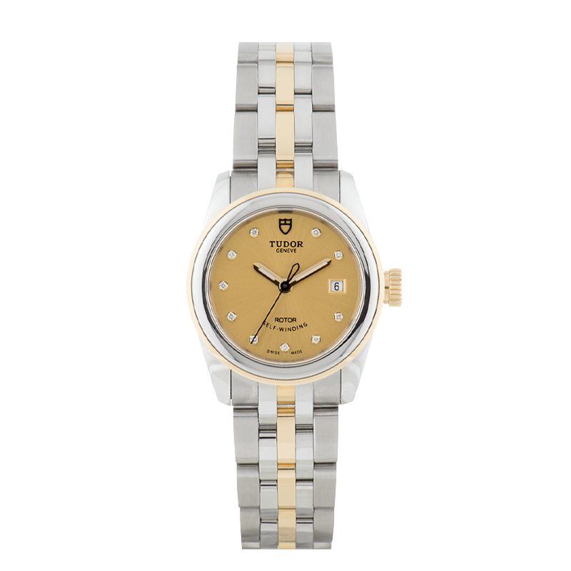 TUDOR, Glamour Date 26, Stainless Steel and 18ct Yellow Gold