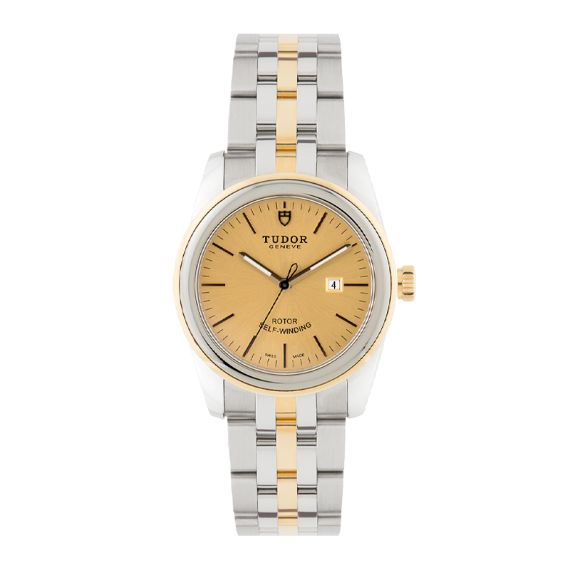 TUDOR, Glamour Date 31, Stainless Steel and 18ct Yellow Gold