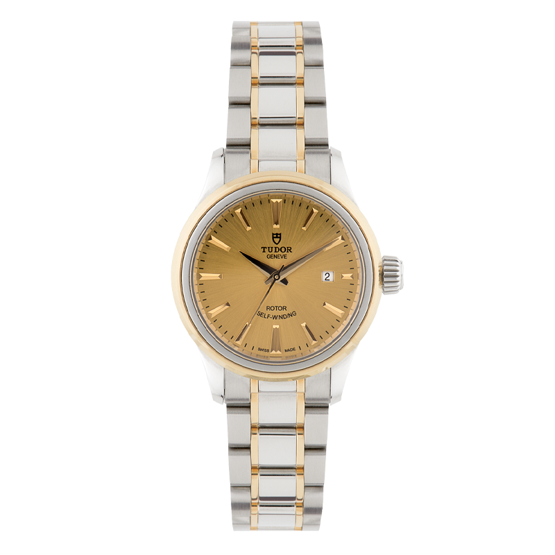 TUDOR, Style Date 28, Stainless Steel and 18ct Yellow Gold