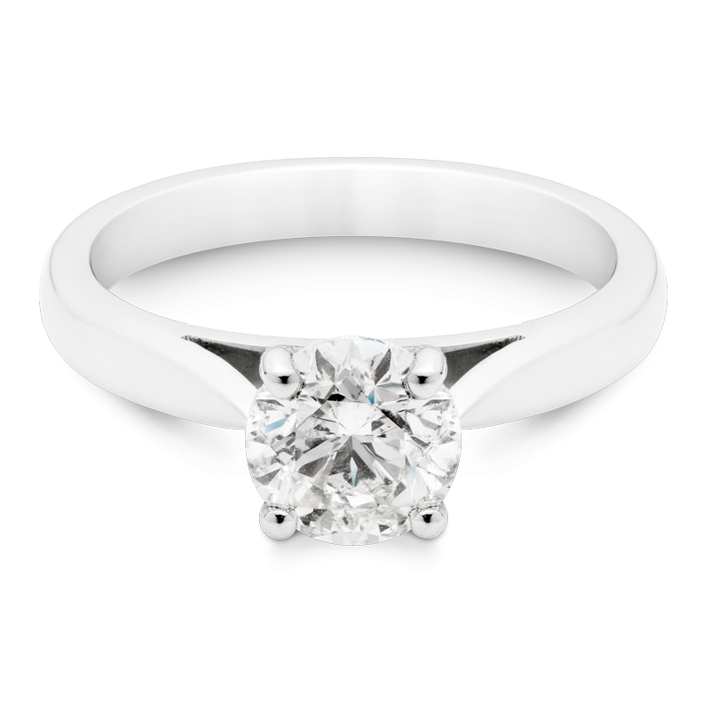 1ct Round Brilliant Cut Solitaire, Platinum