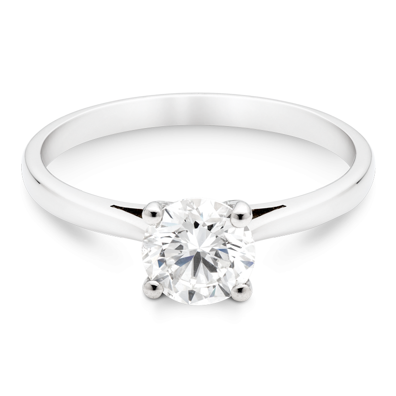 0.91ct Round Brilliant Cut Solitaire, Platinum