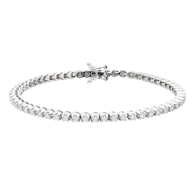 Classic Diamond Tennis Bracelet, 2.04ct