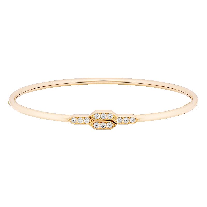 Deco Style Diamond Bangle, 18ct Rose Gold
