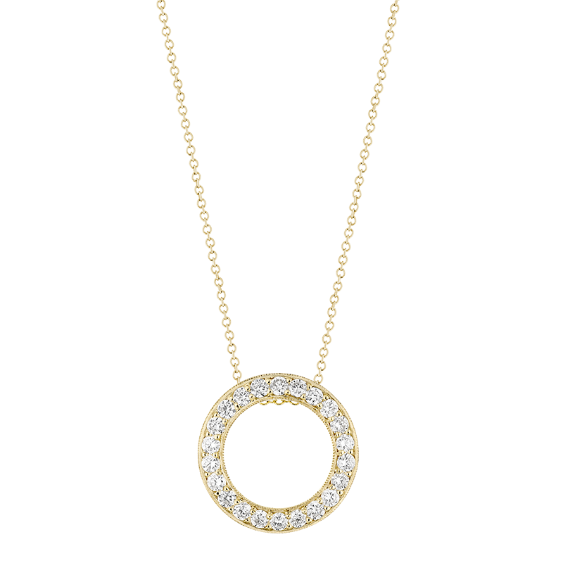 Open Circle Pendant, 18ct Yellow Gold