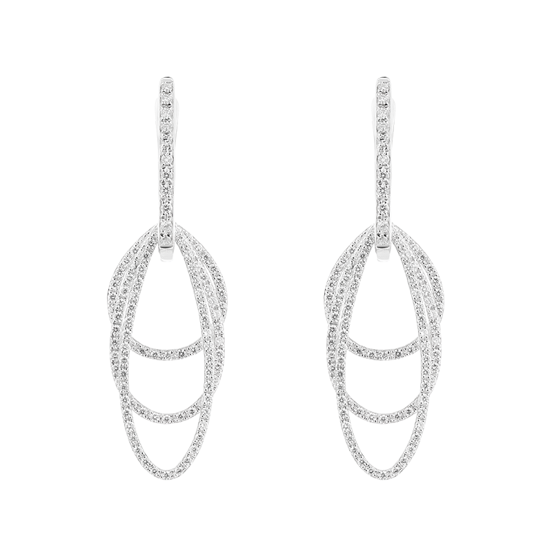 Three Layer Open Shaped Earrings