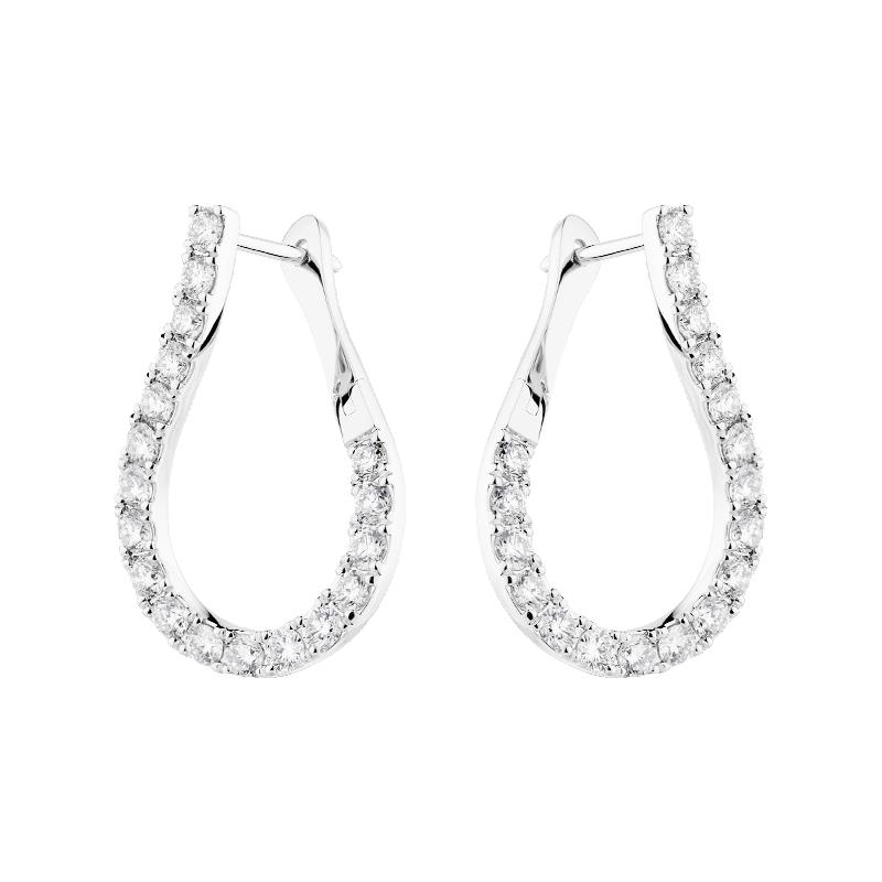 Pear Shaped Diamond Hoops
