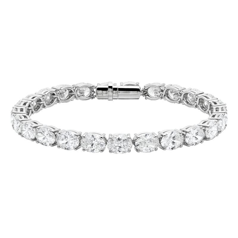 Oval Cut Diamond Bracelet