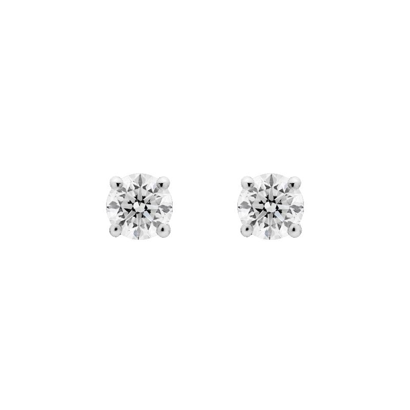 Round Brilliant Diamond Studs, 0.81ct