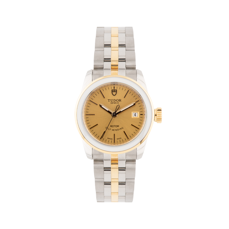 TUDOR, Glamour Date 26, Stainless Steel and Yellow Gold