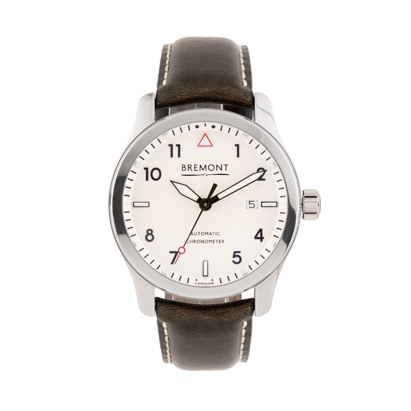 Bremont, Solo Polished White, Stainless Steel