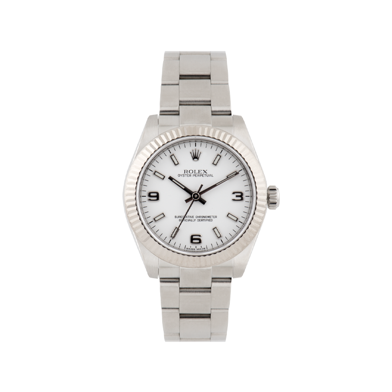 Rolex, Oyster Perpetual 31, White Rolesor