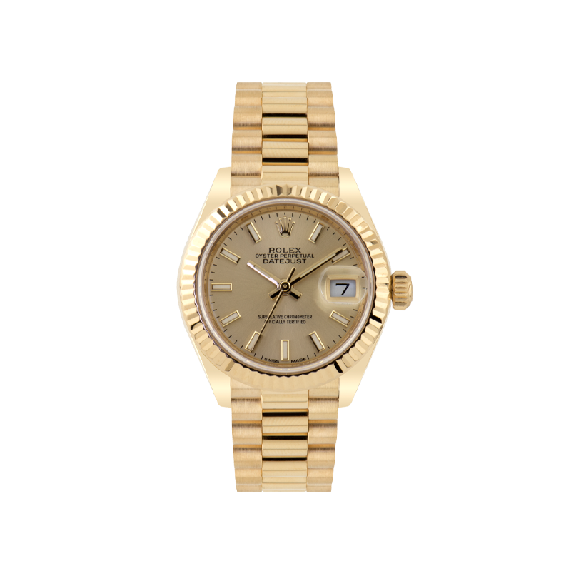 Rolex, Lady-Datejust 28, 18ct Yellow Gold