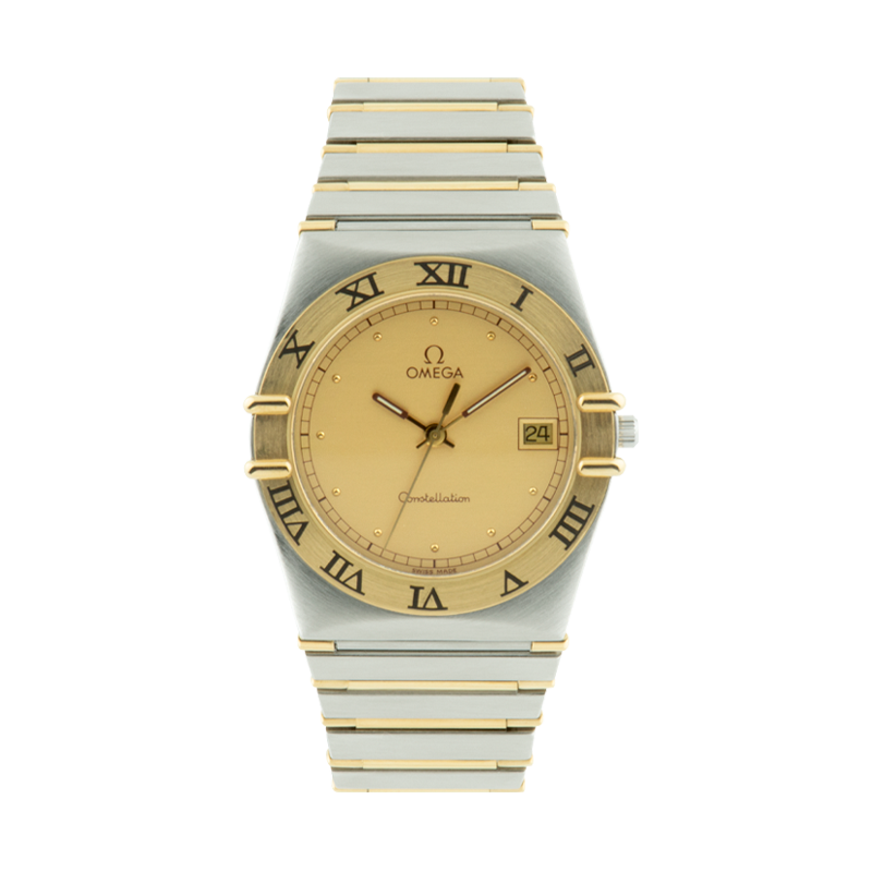Omega, Constellation, Stainless Steel and Yellow Gold