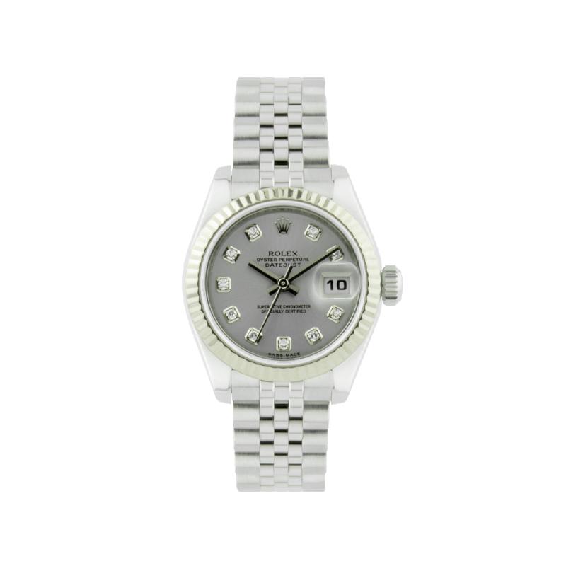 Rolex, Lady-Datejust 26, White Rolesor