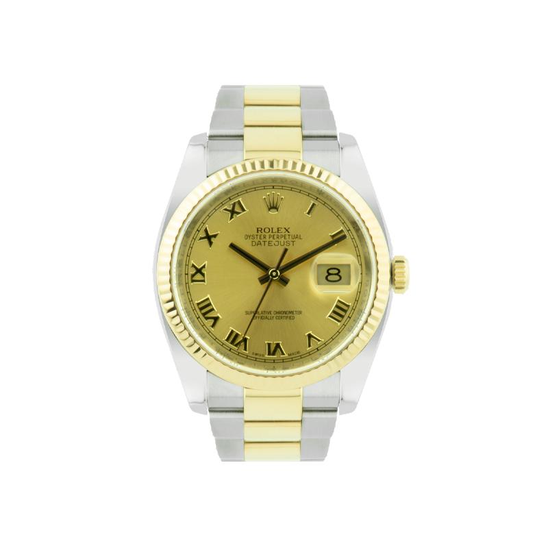 Rolex, Datejust 36, Yellow Rolesor