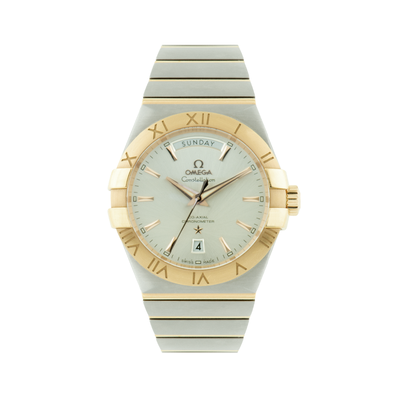 Omega, Constellation Day-Date, Stainless Steel and 18ct Rose Gold
