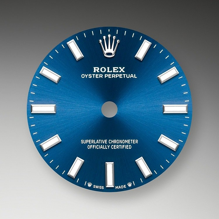 Bright blue dial