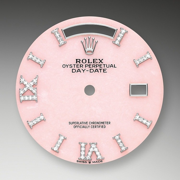 Pink opal dial