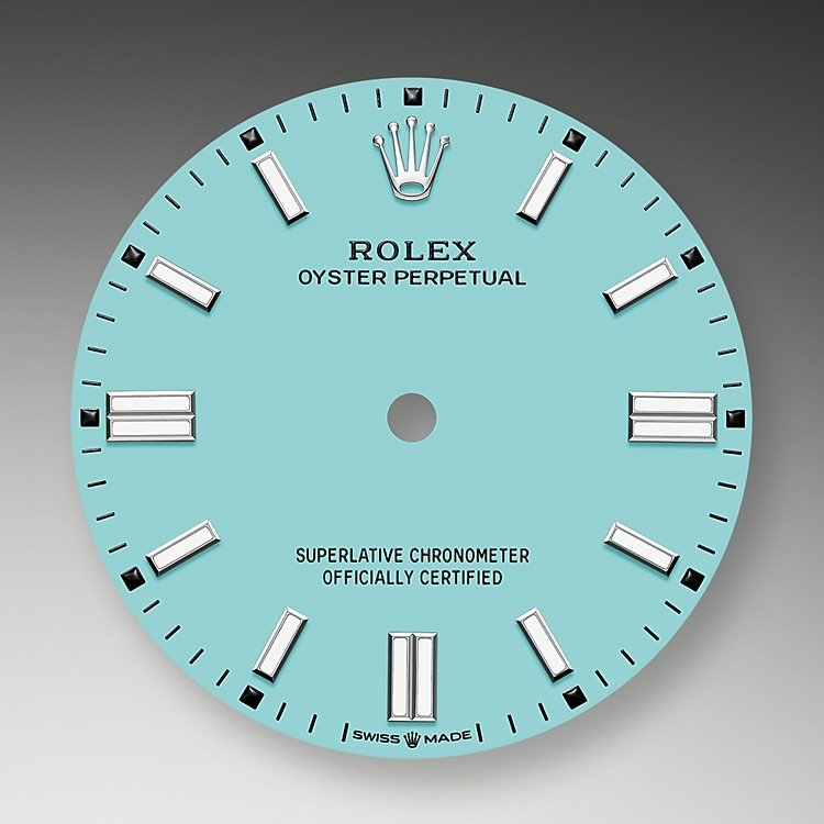 Turquoise blue dial